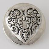 20MM Loveheart snap KB5416 chapado en plata antigua joyería de broches