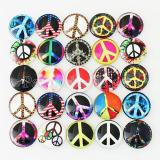 Trozos de broches de vidrio impresos 10pcs - Peace MIX 25 tipos patrón de diseño artístico