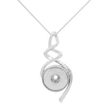 Pendant of Necklace with 46CM chain KC1082 fit 20MM chunks snaps jewelry