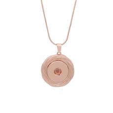 Colgante de collar de oro rosa con cadena 60CM KC1062 broches de joyería