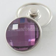 18MM snap Alloy faceted purple crystal KB2701-AF interchangeable snaps jewelrysnaps