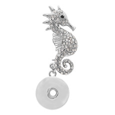 1 snaps button interchange brooch plating sliver with Rhinestones KC1202 snaps jewelry