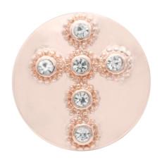 20MM крест из розового золота с покрытием из белого горного хрусталя KC7715 защелкивается ювелирные изделия
