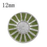 12MM Design-Splitter Mit Strass und grüner Emaille KS6356-S beschichtet