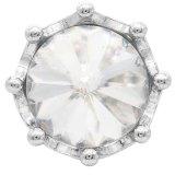 Broche de corona 20MM plateado con diamantes de imitación blancos KC6810 broches de joyería