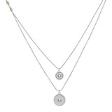 pendant Necklace with 80CM chain KC1306 fit 20MM chunks snaps jewelry