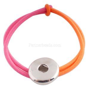 Haarschmuck mit einem Knopf KC0614 Fit 18 / 20mm Snaps Schmuck