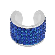 Blue rhinestone fittings for silver-plated belt of ultrasonic stethoscope