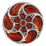 20MM design snap Antique Silver Plated with orange Rhinestone  KC8687 snaps jewelry