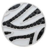 20MM Stripes Splitter Plated mit Strass und Emaille KC9914 Druckknöpfen Schmuck schwarz