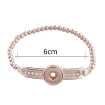 bracelet en alliage bracelets Rose Gold Fit 12mm s'enclenche bijoux KS1137-S
