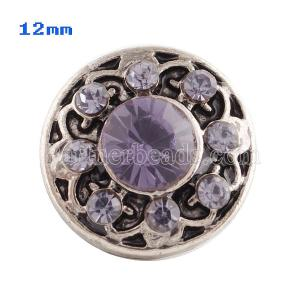 12mm Small size snaps purple for chunks jewelry