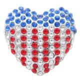 20MM Love design snap Серебро с покрытием со стразами KC7755 оснастки ювелирные изделия