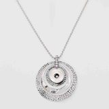 Pendant Necklace with 80CM chain KC1080 fit 20MM chunks snaps jewelry