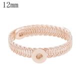 1 buttons snaps rose gold copper Bracelets KS1232-S fit 12MM snaps chunks