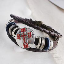Кнопка 20MM с крестообразной застежкой Античное серебро с покрытием из красного горного хрусталя KC9748 оснастка