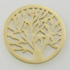 33MM stainless steel coin charms fit  jewelry size tree