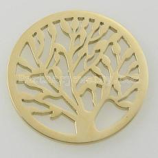 Los encantos de monedas de acero inoxidable 33MM se ajustan al árbol del tamaño de la joyería