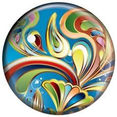 20MM design métal émaillé peint s'enclenche C5075 impression s'enclenche bijoux