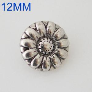Broches de flores 12mm Joyas de plata KB6568-S chapadas en plata