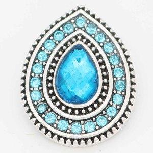Diseño 20MM chapado en plata con diamantes de imitación azul oscuro KC6717 broches de joyería