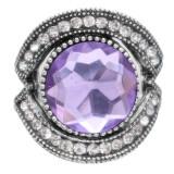 Diseño 20MM de plata chapada con diamantes de imitación morados KC6909 broches de joyería