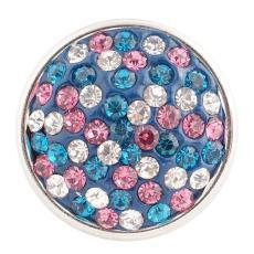 кнопка с голубыми стразами KC2707 ювелирные изделия