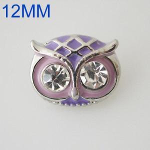 12mm búho se ajusta con esmalte púrpura KB6621-S broche de joyería