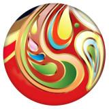 Дизайн 20MM Металлическая эмаль с росписью C5523