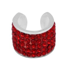 Red rhinestone fittings for silver-plated belt of ultrasonic stethoscope