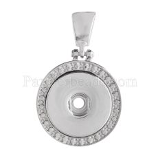 Pendant of necklace fit snaps style 18mm chunks jewelry