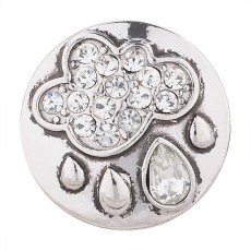 20MM Broche de lluvia chapado en plata con diamantes de imitación blancos KC5487 broches de joyería