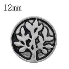 12MM tree snap silver plated KS9693-S snaps jewelry