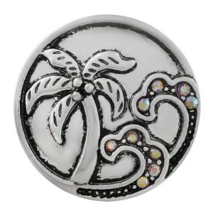 20MM composant logiciel enfichable de plage plaqué argent avec strass coloré KC7642 snap bijoux