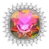 Diseño 20MM chapado en plata con diamantes de imitación de colores KC6771 color opal