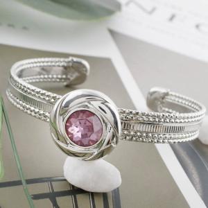 20MM snap Oct. birthstone pink KC5608 broches intercambiables joyería