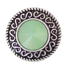 20MM enfonce des morceaux avec des bijoux interchangeables en strass vert