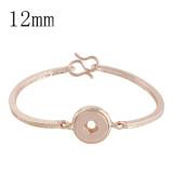 snap Rose Gold bracelet fit 12MM snaps style jewelry KS1145-S