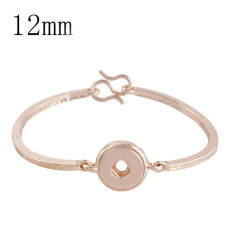 bouton-pression bracelet en or rose 12MM s'adapte bijoux de style KS1145-S