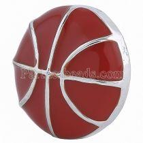 20MM Basketball snap Argenté avec émail rouge KC6085 s'encliquette bijoux