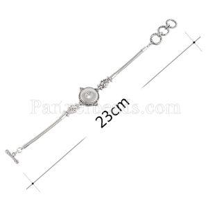Кнопки 21CM 1 защелкиваются металлические браслеты KC0695 подходят защелкиваются кусками