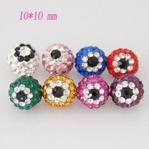 10*10mm Rhinestone evil eye beads
