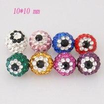 10 * 10mm Perles de faux œil en strass