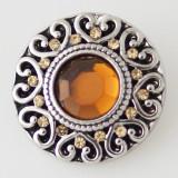20MM Выкройка из античного серебра с покрытием из коричневого горного хрусталя KB5181 оснастка для ювелирных украшений