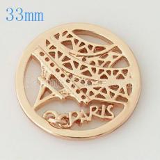 Moneda de aleación 33 mm en forma de medallón tipo joyería 008