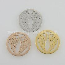 Les breloques en acier inoxydable 25MM conviennent aux ailes de taille de bijoux