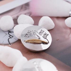 20MM Saint-Valentin mousqueton argent antique et KC5190 plaqué or bijoux à pression interchangeables