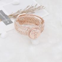 Croix 20MM plaqué or rose avec strass blanc KC7715 enclenche des bijoux