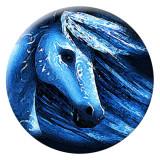 20MM caballo Esmalte pintado metal C5253 estampado azul