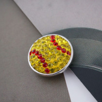 18mm Sugar snaps Alloy with yellow rhinestones KB2439 snaps jewelry